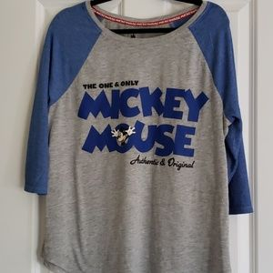 Women's baseball-style Disney shirt